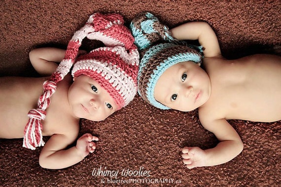 Baby Crochet HaT Pattern: 'Knotty Babe With A Knotty Twist' Photo Prop