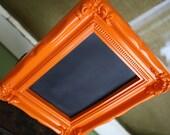 Orange Table Top Chalkboard