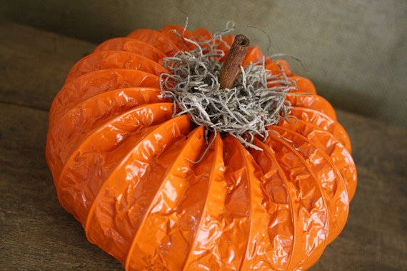 Small Orange Dryer Vent Pumpkin