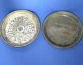 Antique vintage pie tins