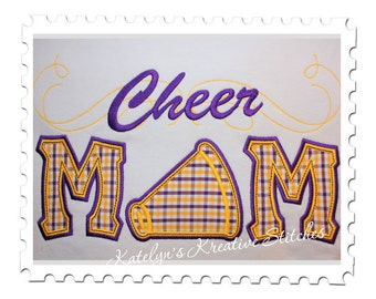 Cheer Mom Applique with a Twist