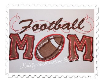 Football  Mom Applique with a Twist