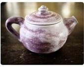 Purple Teapot, Swirly Matte