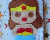 Wonder Women Iphone Gadget Case - Tan Version - With Sew on Tape
