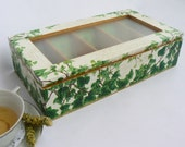 REZERVED EVERGREEN Ivy - Unique Large Wooden TEA  Box