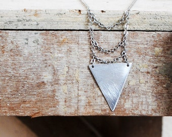 Triangles Go Deep Down Cage Necklace (No. 26)