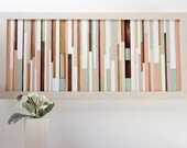 "Black Friday Etsy SALE 50 %Autumn Decor Art Modern, Wall Wooden sculpture 24.5"" x 11.5"","