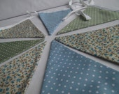 Handmade Bunting - Spotty & Floral Blue