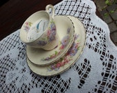 Vintage Tea Cup Candle Trio - Alfred Meakin