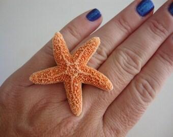 Tiny Sugar Starfish Ring by PalmBeachFlowerGirl