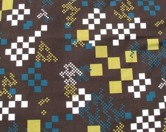 Cotton Fabric 1 1/2 Yard- Scandinavian Design- Professional Print- For Curtains, Roman Blinds, Pillow covers etc.