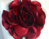Gorgeous Big Red Flower with Elastic Belt .... Only flower for 12.00