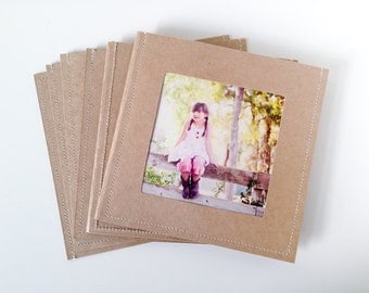 DVD Cases / Sleeves - 10 Brown Sleeves with 2 dvd slots and a Photo Opening on front