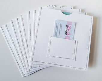 DVD Cases / Sleeves - 50 DVD sleeves with Business Card Pocket on front