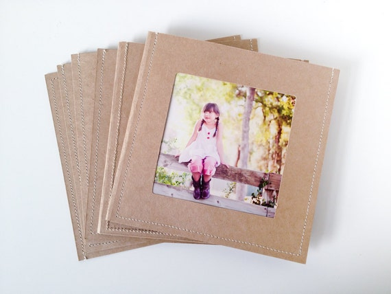 DVD Cases / Sleeves - Set of 20 brown double DVD sleeves w/photo opening on front and 2 DVD slots