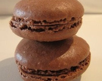 Gluten free Recipe of chocolate macaroons - Pdf tutorial - Kit DIY - Free shipping gift