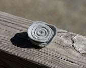 Slate Gray Felt Flower Pin