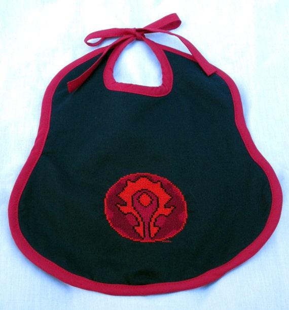 Warcraft -Horde- Cross Stitched Toddler Bib