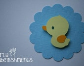 Just Ducky Party Embellishments - set of 24 Ready to Ship :)