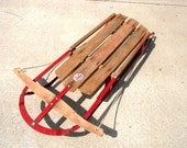 Vintage Paris Champion F42 Metal and Wood Snow Sled - Cabin or Home Decor, or take it for a run