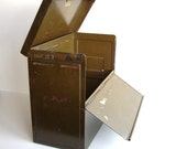 Vintage USA Marine's Metal File Box with Lid and Handle - Storage, Industrial Decor and more
