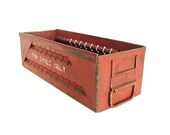 Vintage Red Metal Tool Drawer - Industrial Home Decor, Organizer, Storage, and more