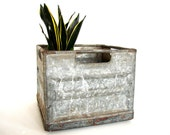 Vintage Metal Sealtest Dairy Crate / Milk Crate from St. Louis (c1940s) - Industrial Decor, Storage, and more