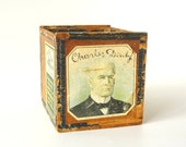 Antique Diamond Joe Cigar Factory, Charles Denby Wood Cigar Box (c.1850) - Collectible, Unique Storage, and more