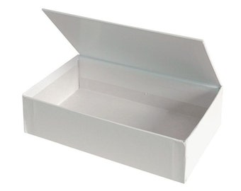 Blank White Hinged Lid Box (Medium) - Cigar-style box with so many uses