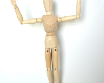 "Wood Manikin / Mannequin (8"" high) - Perfect for drawing, decoration, or quirky companionship"