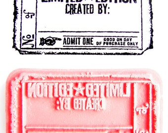 Limited Edition, Created By Ticket Stamp - Rubber Cling Mounted Stamp