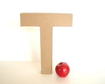"Paper Mache Letter T (12"" tall) - Ready to Decorate Blank Letter, Home Decor, and more"