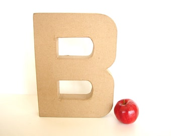 "Paper Mache Letter B (12"" tall) - Ready to Decorate Blank Letter, Home Decor, and more"