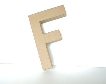 "Paper Mache Letter F (12"" tall) - Ready to Decorate Blank Letter, Home Decor, and more"