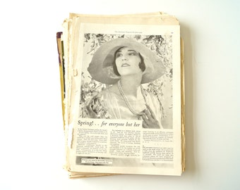 Vintage Magazine Ads / Ephemera Pack of 130 pages (c.1930s) - Collectible, Collage Pack, Paper Crafts