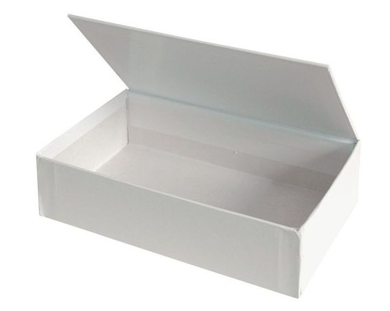 Blank White Hinged Lid Box (Medium) - Cigar-style box with so many uses