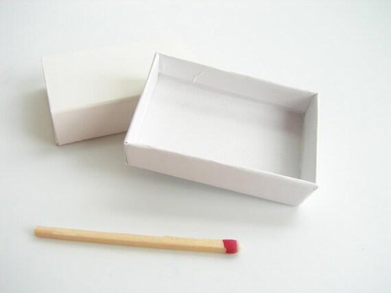 "Do-It-Yourself Blank White Matchbox / Slide Box (1-1/4"" x 2"") Set of 6"