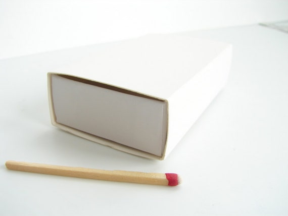 "Do-It-Yourself Blank White Slide Box, Matchbox Style (1-3/4"" x 3"") Set of 6 - Perfect for memory boxes, gifts, wedding favors, and more"