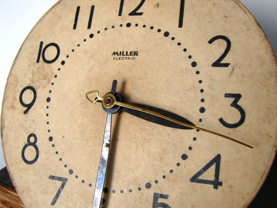 Vintage Clock Face and Parts -  Steampunk Supplies, Recycled Repurposed Clock Parts, Altered Art Mixed Media