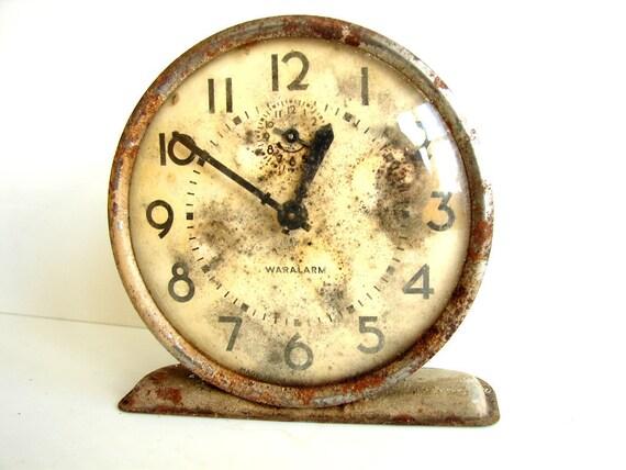 Vintage Westclox Waralarm / War Alarm Clock -  Rare Collectible, Steampunk Supplies, Clock Parts, Altered Art Mixed Media