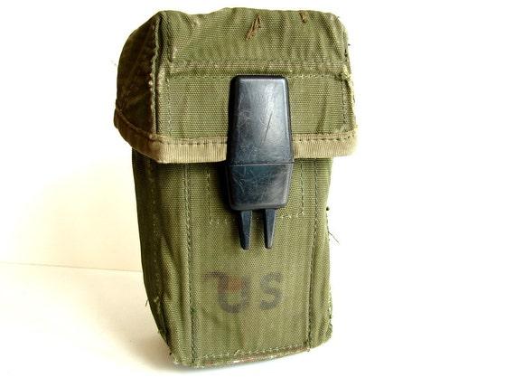 Vintage US Army Canvas Belt Bag - Collectible, Home Decor, Unique Storage Bag and more