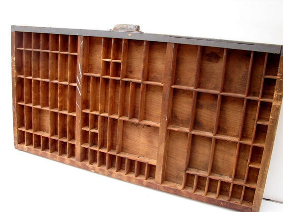 Vintage Letterpress Drawer / Printers Tray, Large (No.1 of 5) - Perfect for organizing, shadowbox, display, and more