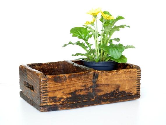 Vintage / Antique Rustic Wood Box (c1920s) - Farmhouse Decor, Rustic Storage, Garden Plant Holder, and more