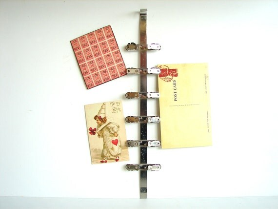 Vintage X-Ray Clip Rack - Repurpose as an inspiration board, memo board, photo holder, and more