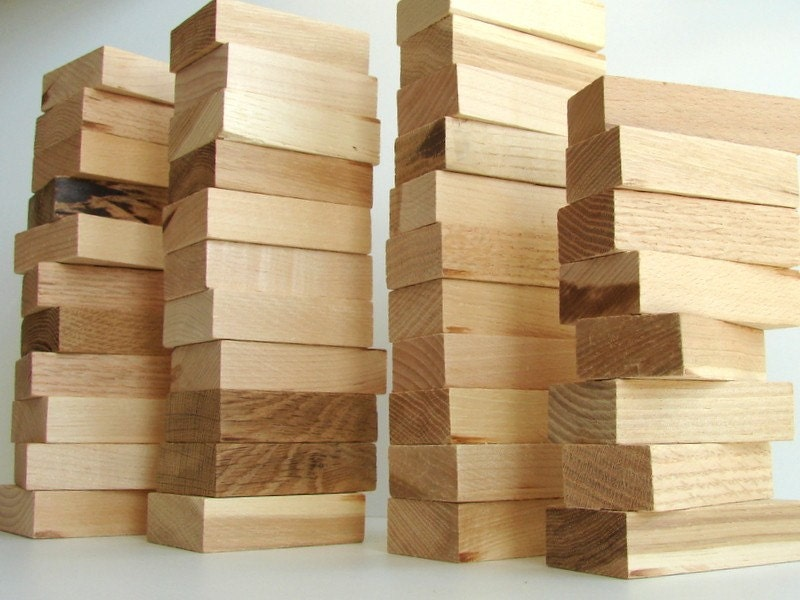 unfinished wood block pieces 29 pieces perfect for crafts