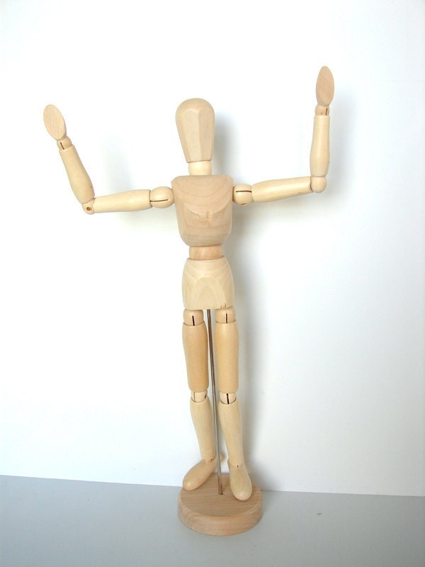 It is a picture of Insane Wooden Drawing Mannequin