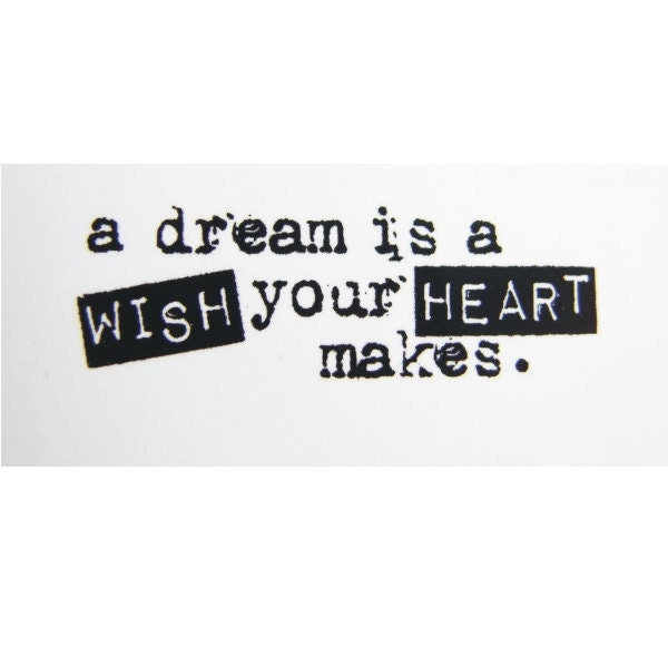 A Dream is a Wish Your Heart Makes Stamp Rubber ClingA Dream Is A Wish Your Heart Makes