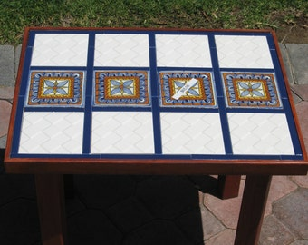 Handcrafted Tile Table