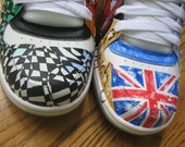 Handpainted personalized shoes with theme