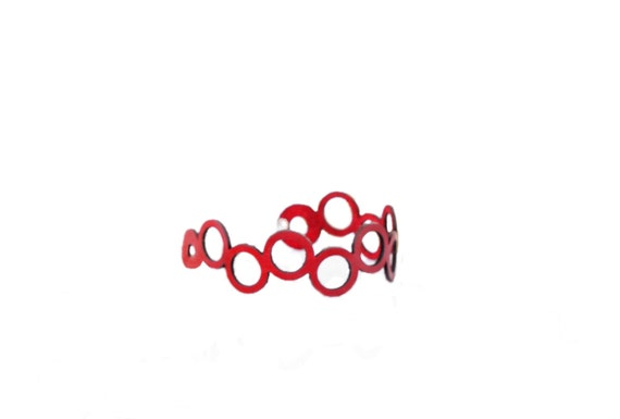 CLOSEOUT SALE - 40% OFF! Iskin Abstraction Bracelet - Leather - Contemporary Jewelry - Laser Cut Leather